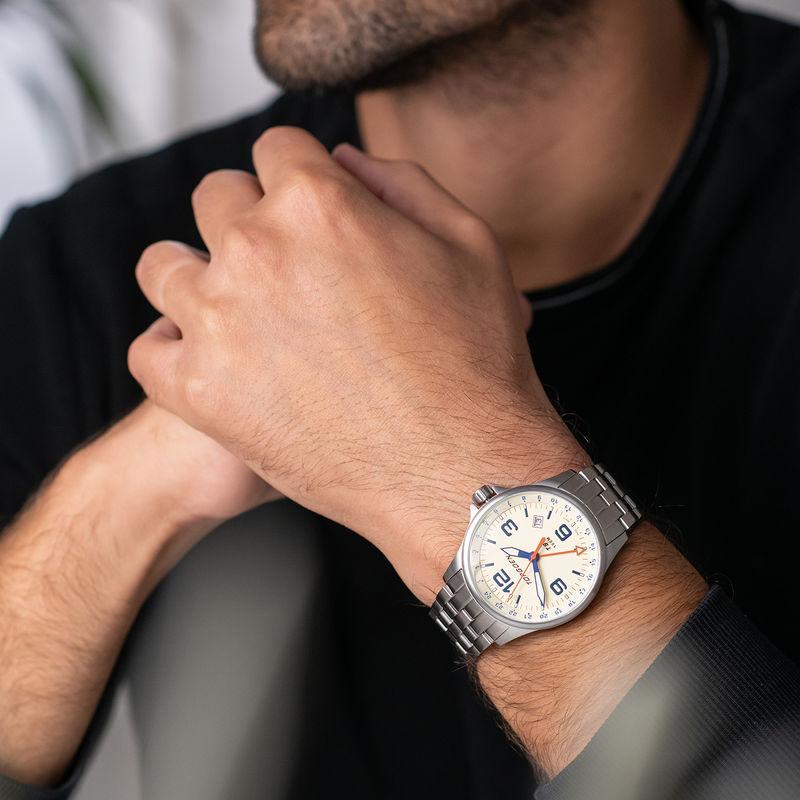 Torgoen Men's Watch T9 LAZULI METAL GMT - 2