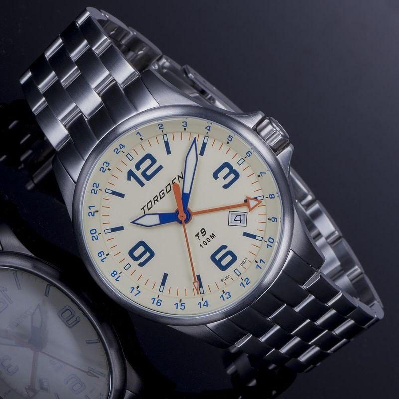 Torgoen Men's Watch T9 LAZULI METAL GMT - 3