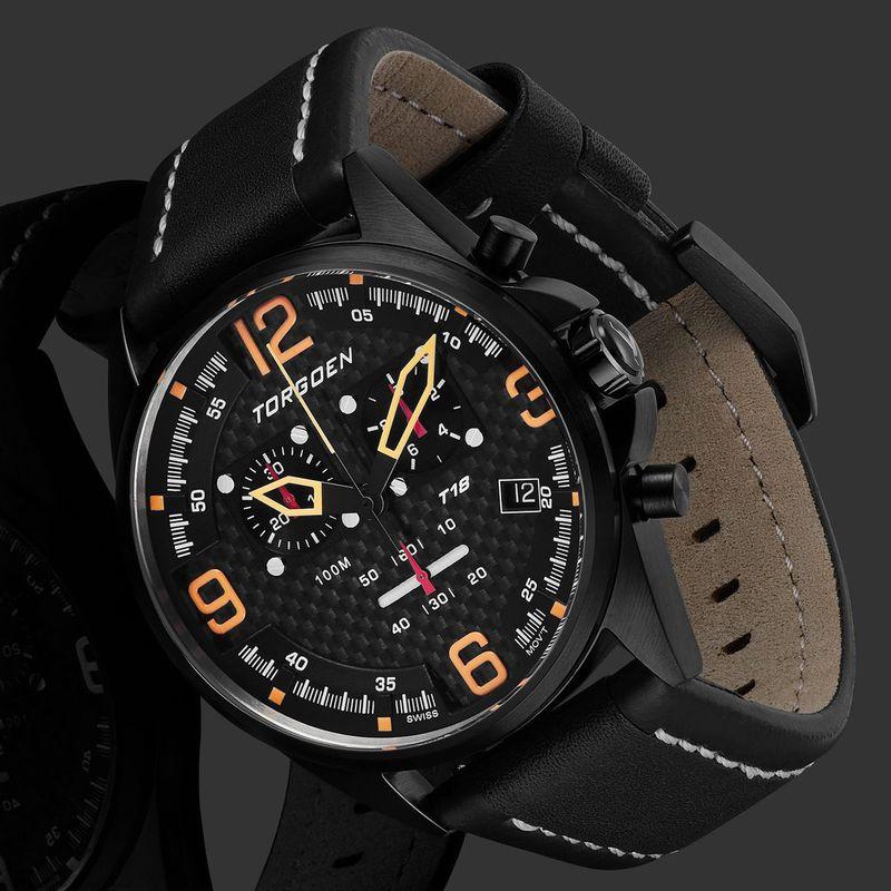 Torgoen Men's Watch T18 CARBON FIBER - 2