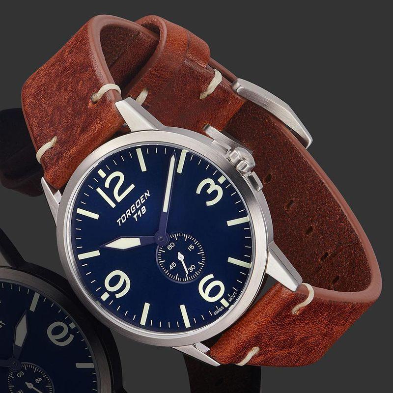 Torgoen Men's Watch T19 SLIM BLUEBIRD - 2