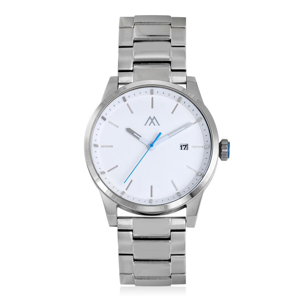 Odysseus Day Date Minimalist Stainless Steel Watch