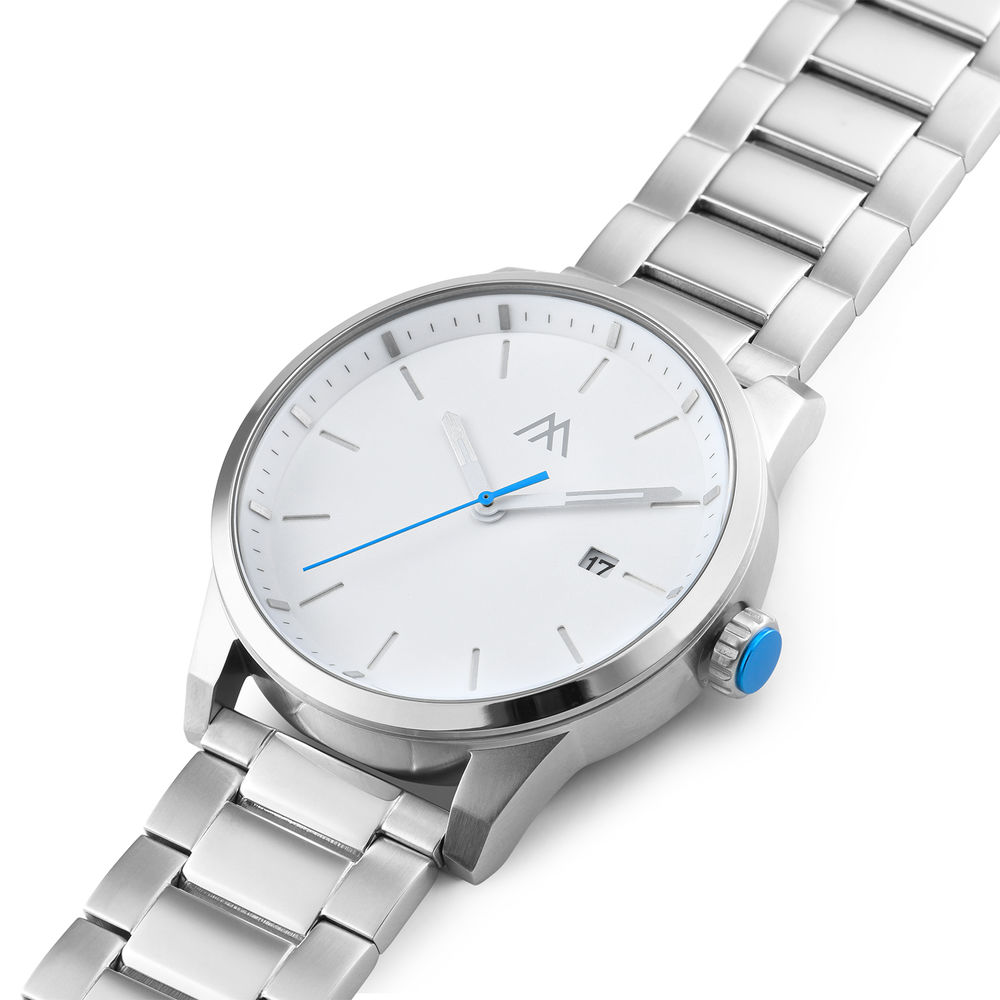 Odysseus Day Date Minimalist Stainless Steel Watch - 1