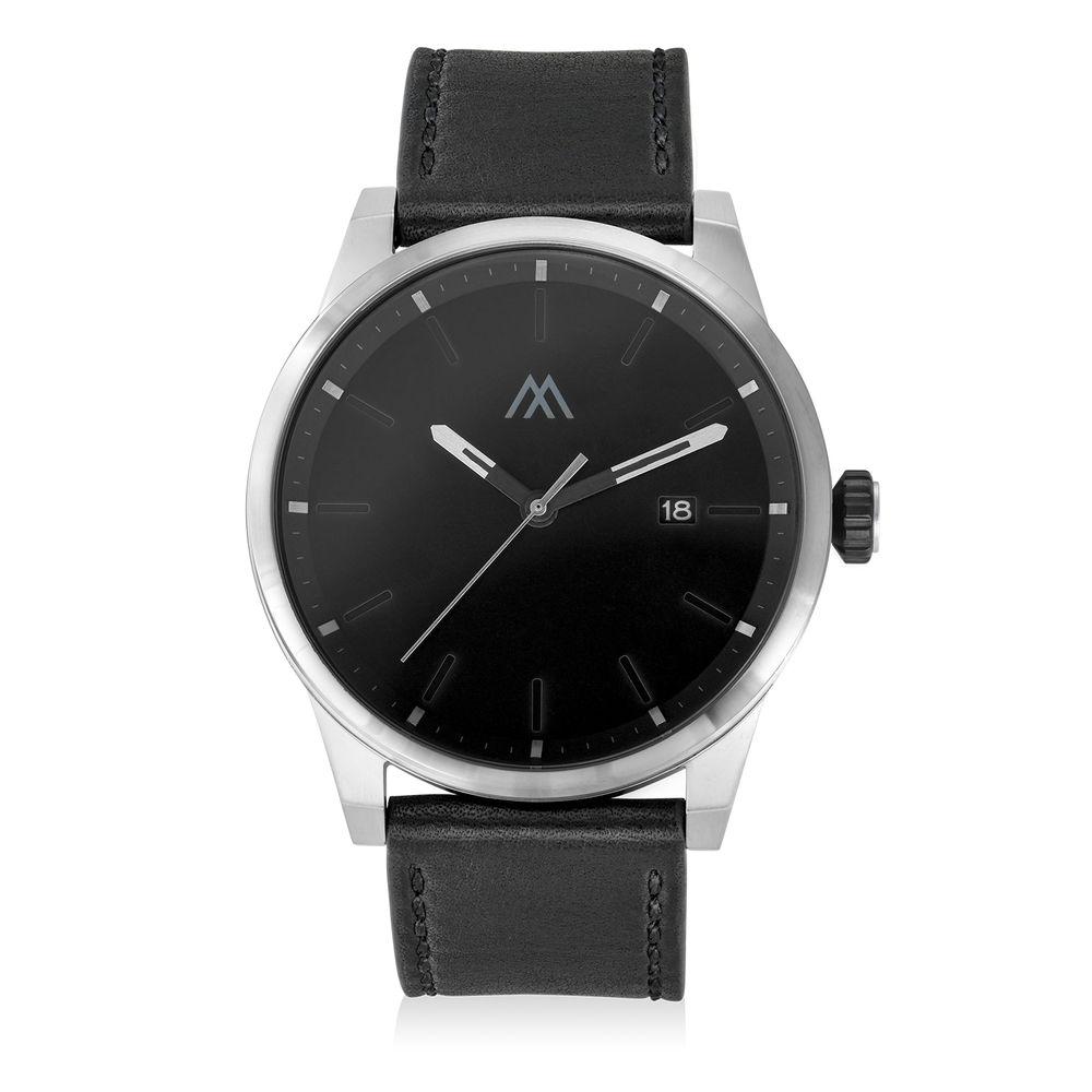 Odysseus Day Date Minimalist Leather Strap Watch