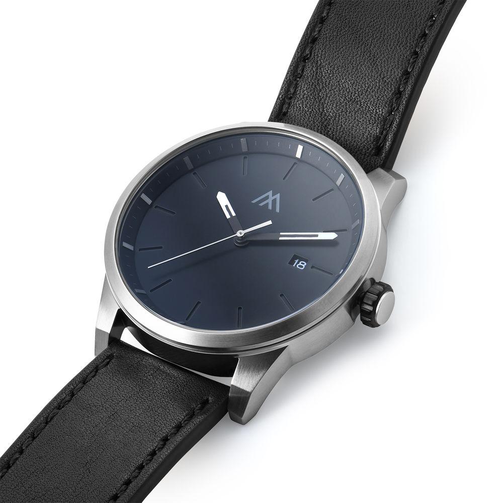Odysseus Day Date Minimalist Leather Strap Watch - 1