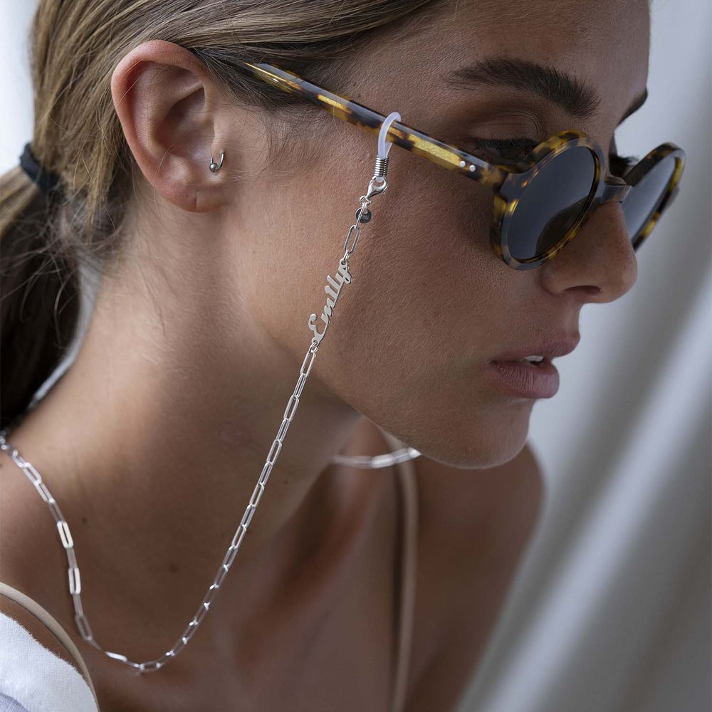 Siena Link Chain for Glasses in Sterling Silver - 2