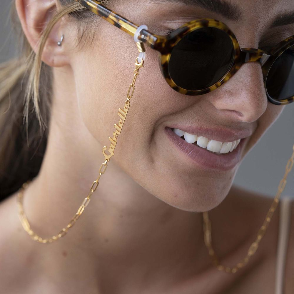 Siena Link Chain for Glasses in Gold Plating - 1