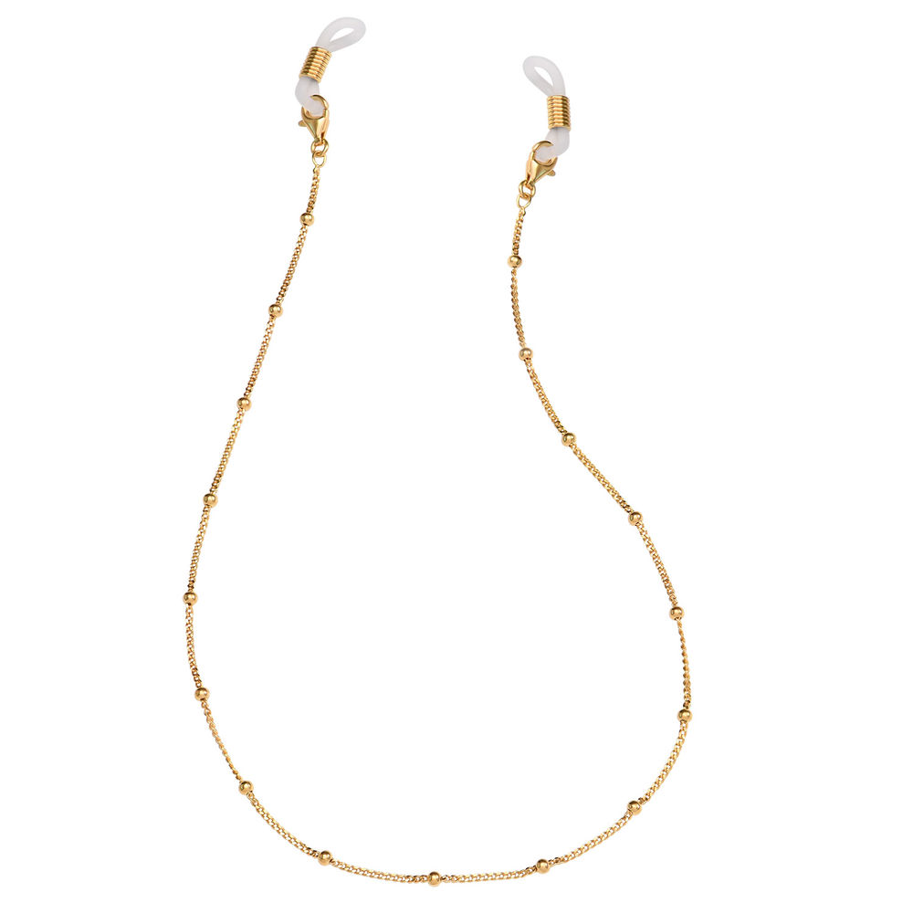 Bobble Chain for Glasses in Gold Plating