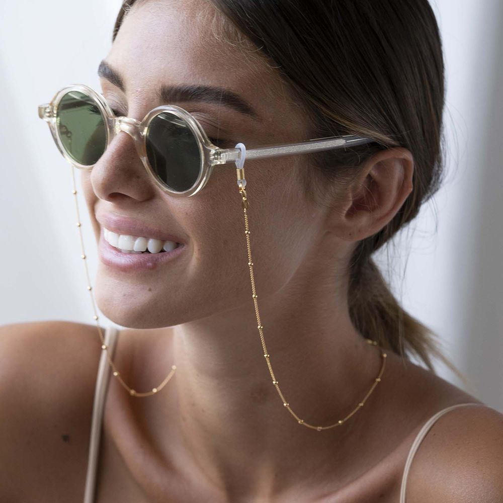 Bobble Chain for Glasses in Gold Plating - 1