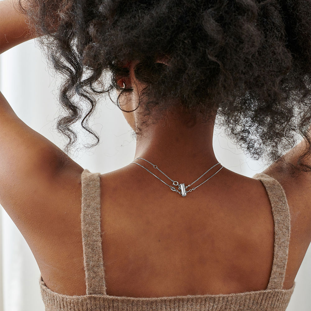 Layered Necklace Separator - 2 Chains - 2