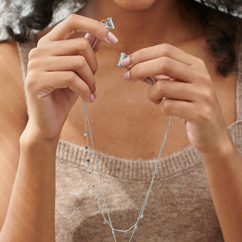Layered Necklace Separator - 2 Chains - 3