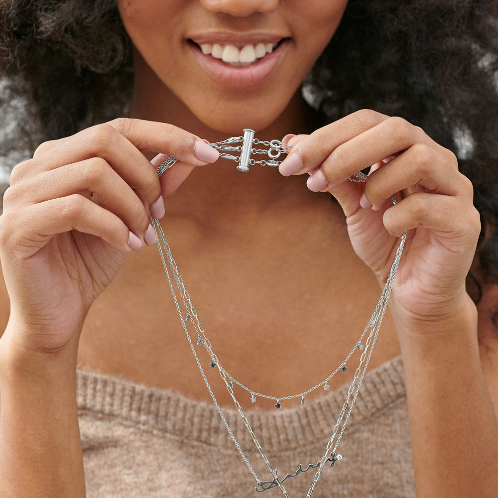 Layered Necklace Separator - 3 Chains - 3