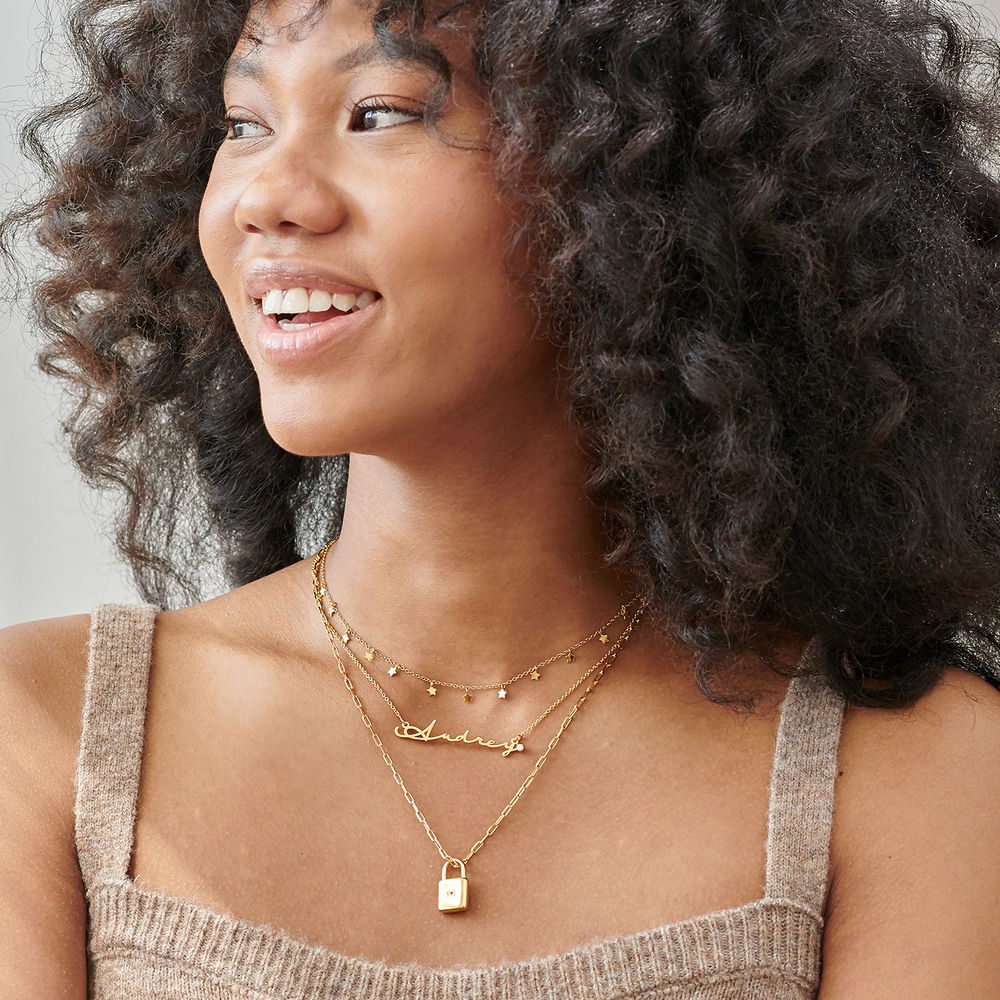 Layered Necklace Separator  in Gold Plated- 3 Chains - 2