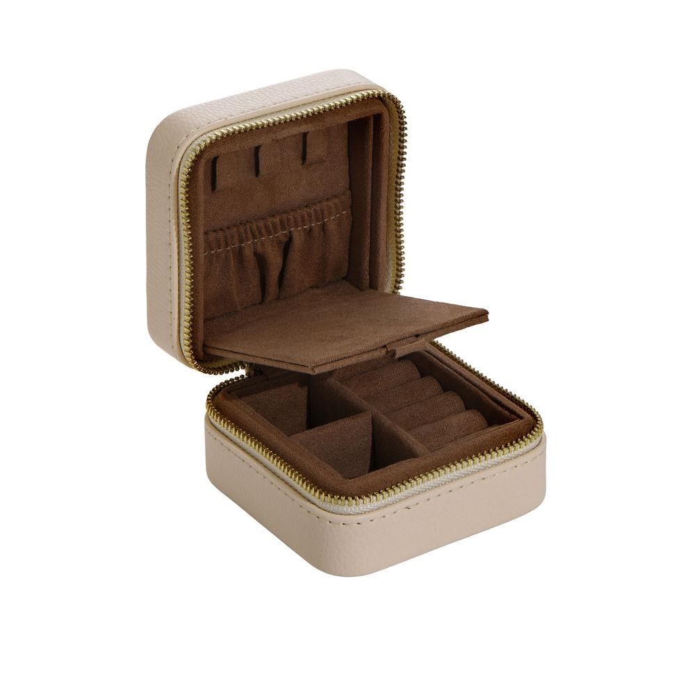 Dainty Jewelry Box in PU beige leather - 1