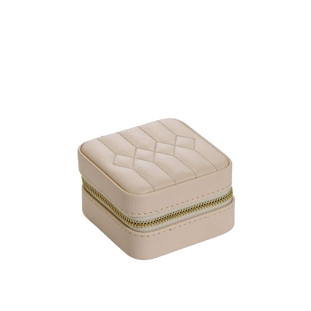 Dainty Jewelry Box in PU beige leather - 2