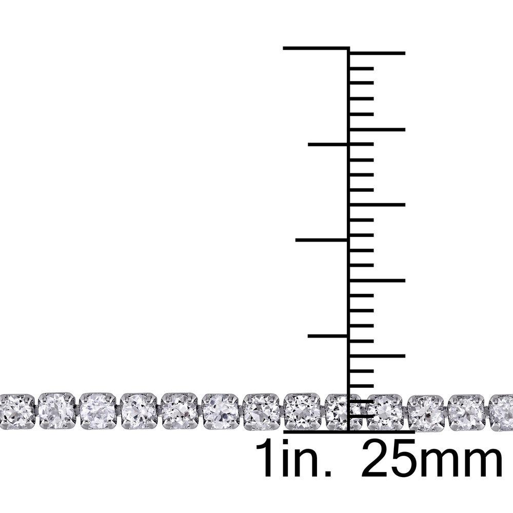 2.5mm White Topaz Bolo Bracelet in Sterling Silver - 4