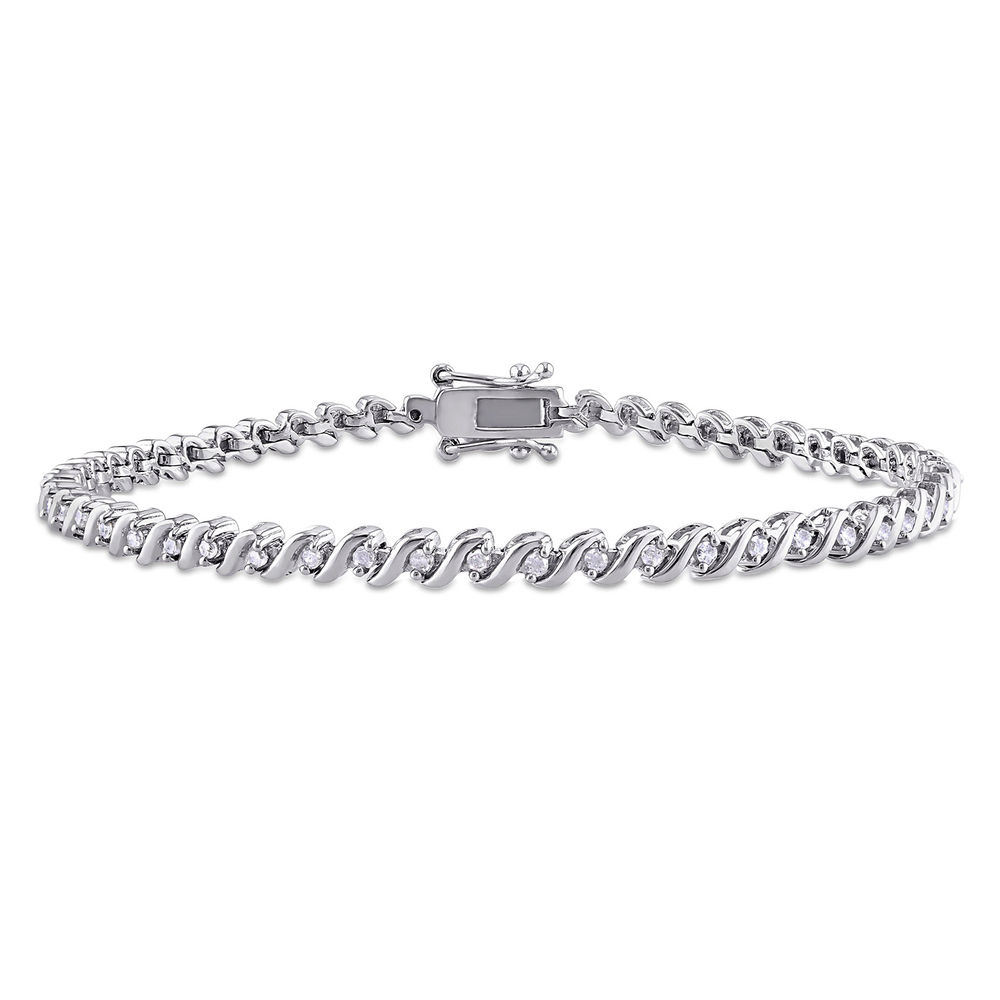 1/2 CT TW Diamond Tennis Bracelet in Sterling Silver