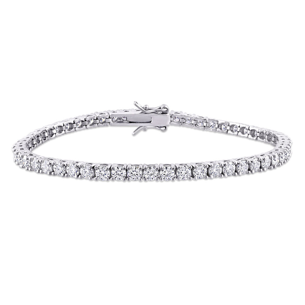 5 5/8 CT TGW Created Moissanite Tennis Bracelet in Sterling Silver