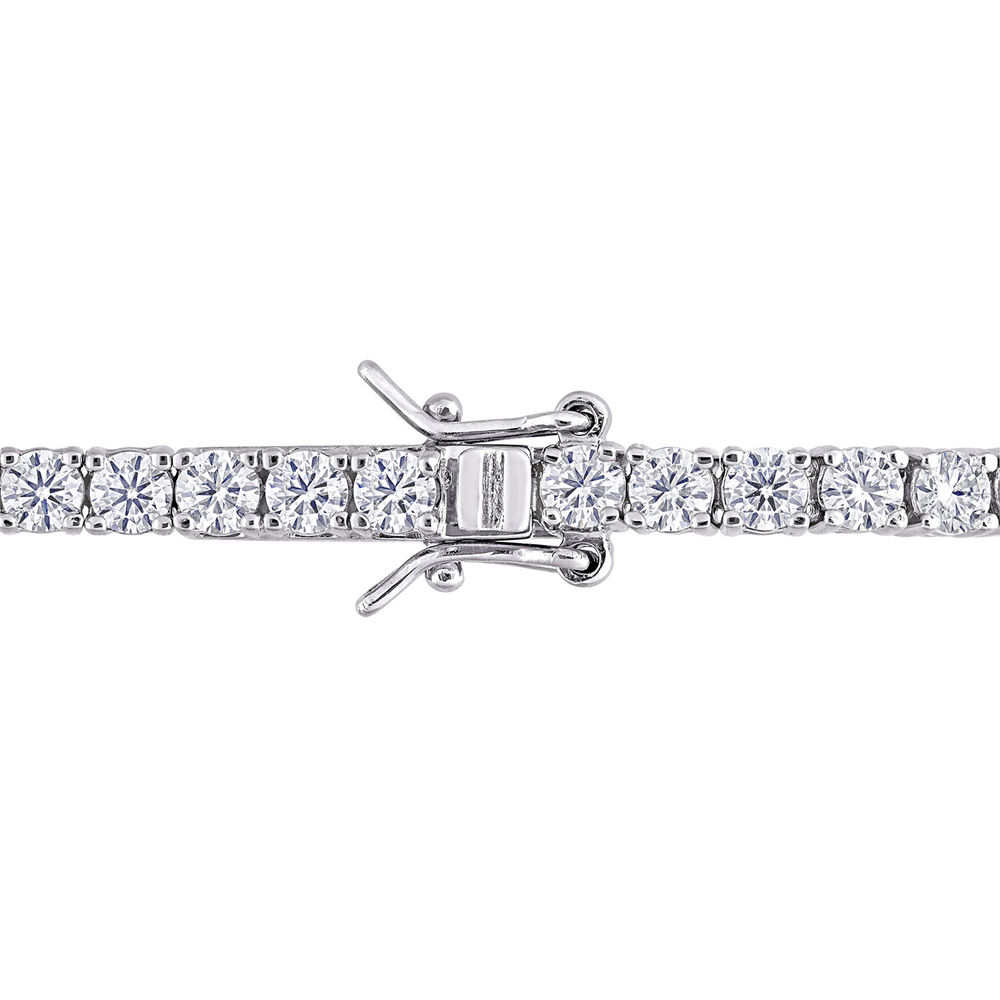 5 5/8 CT TGW Created Moissanite Tennis Bracelet in Sterling Silver - 1
