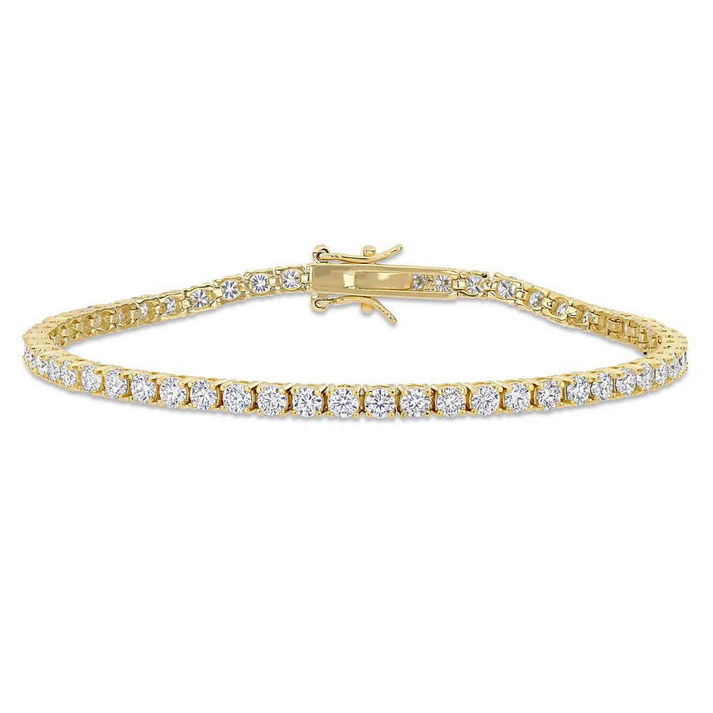 5 5/8 CT TGW Created Moissanite Tennis Bracelet in Yellow Silver