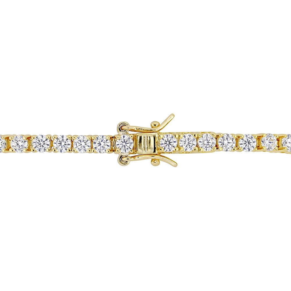 5 5/8 CT TGW Created Moissanite Tennis Bracelet in Yellow Silver - 1
