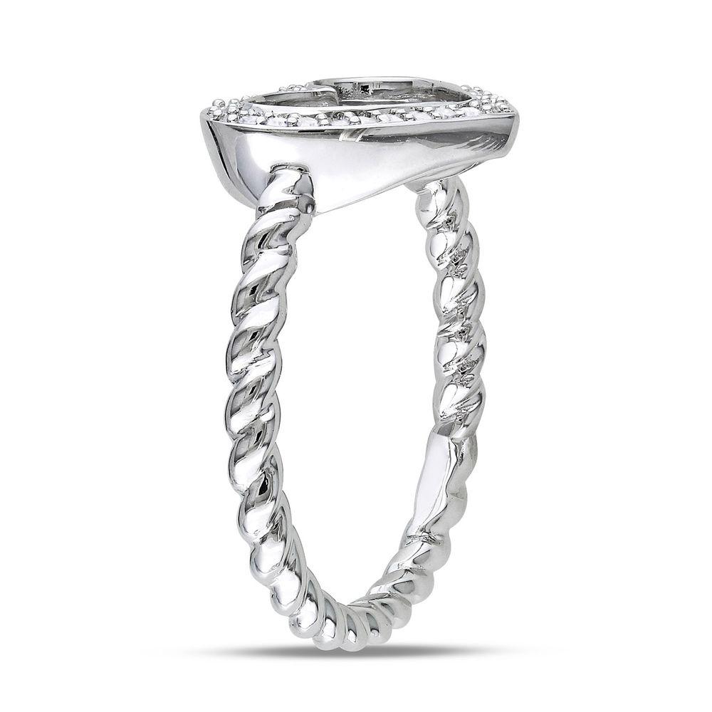 1/8 CT. T.W. Diamond Heart Ring in Sterling Silver - 1