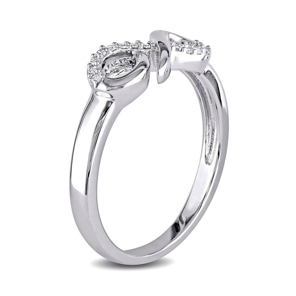Diamond Infinity Ring in Sterling Silver - 1