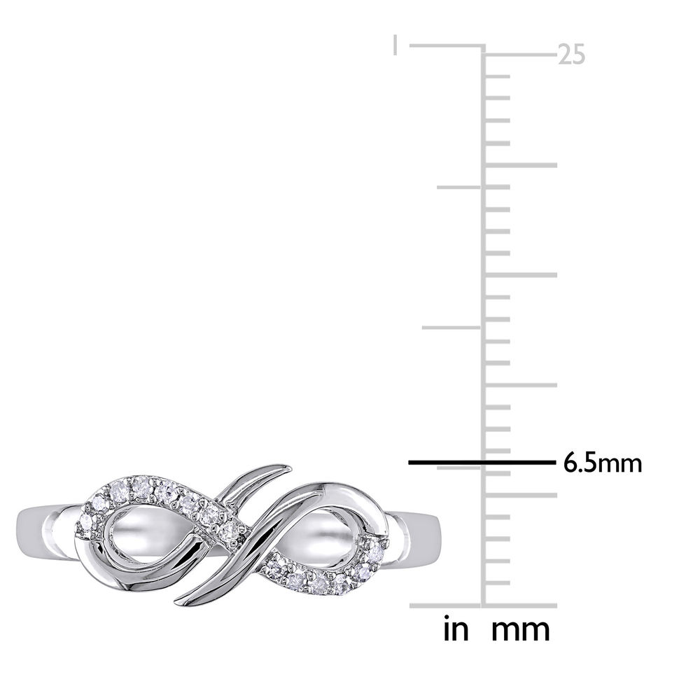 Diamond Infinity Ring in Sterling Silver - 4