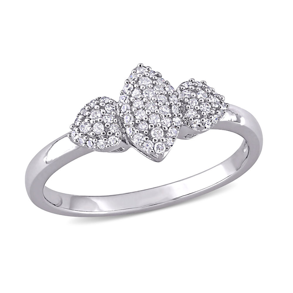 1/5 CT. T.W. Diamond Marquise Ring in Sterling Silver