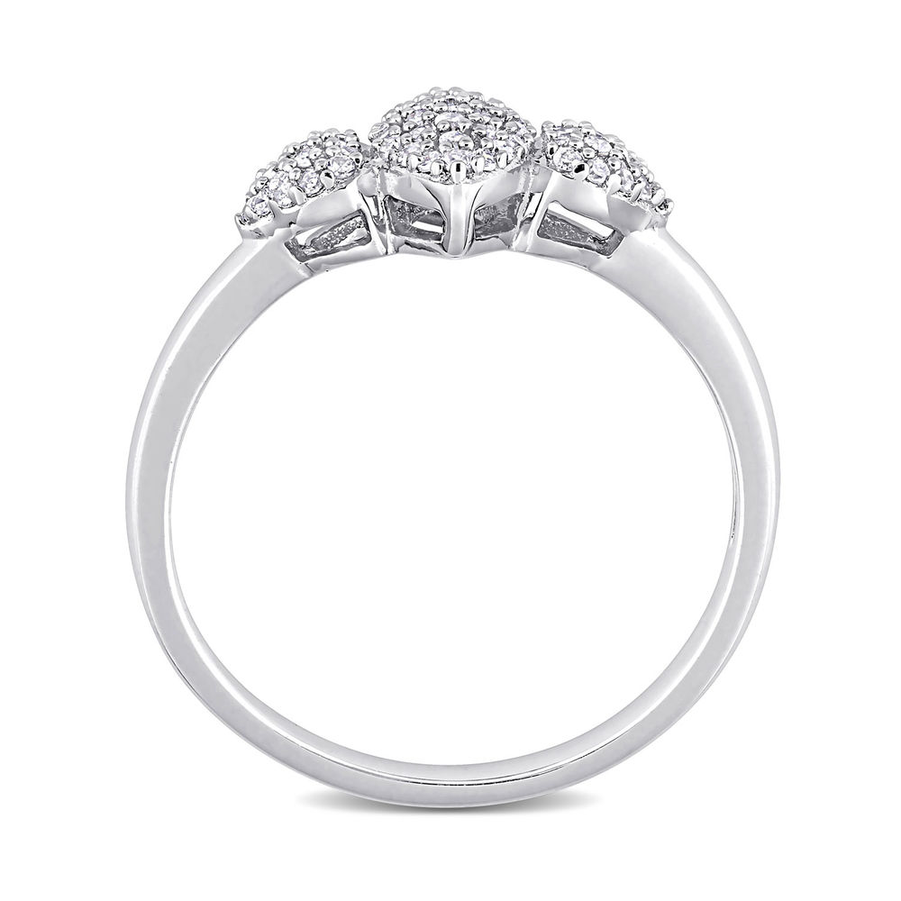 1/5 CT. T.W. Diamond Marquise Ring in Sterling Silver - 2