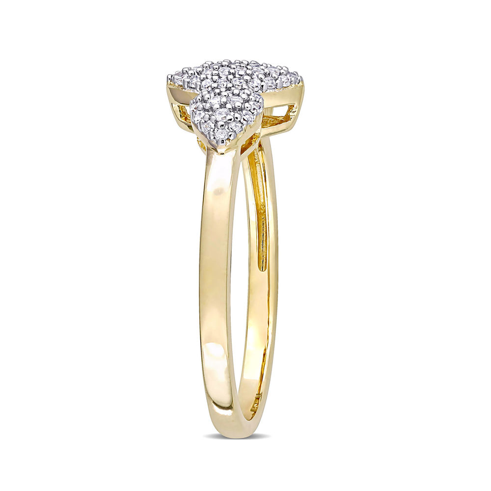 1/5 CT. T.W. Diamond Marquise Ring in Gold Plated Sterling Silver - 1