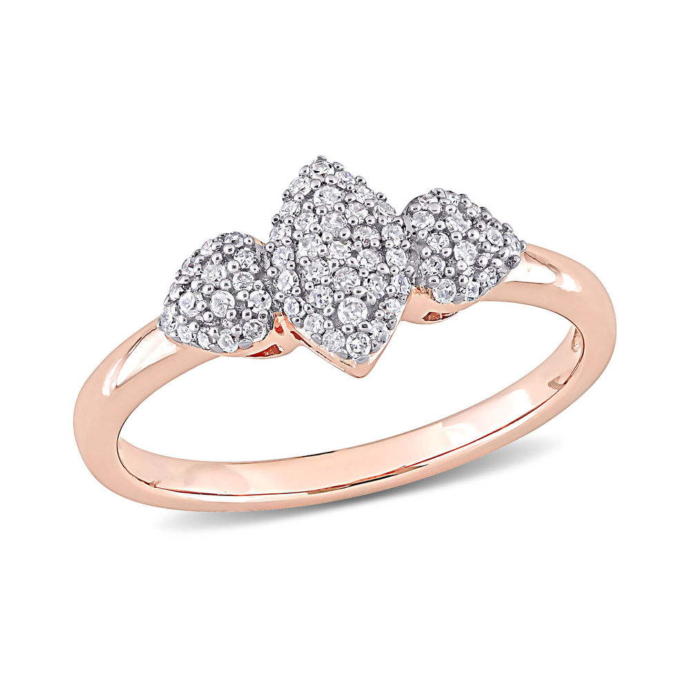 1/5 CT. T.W. Diamond Marquise Ring in Rose Gold Plated Sterling Silver
