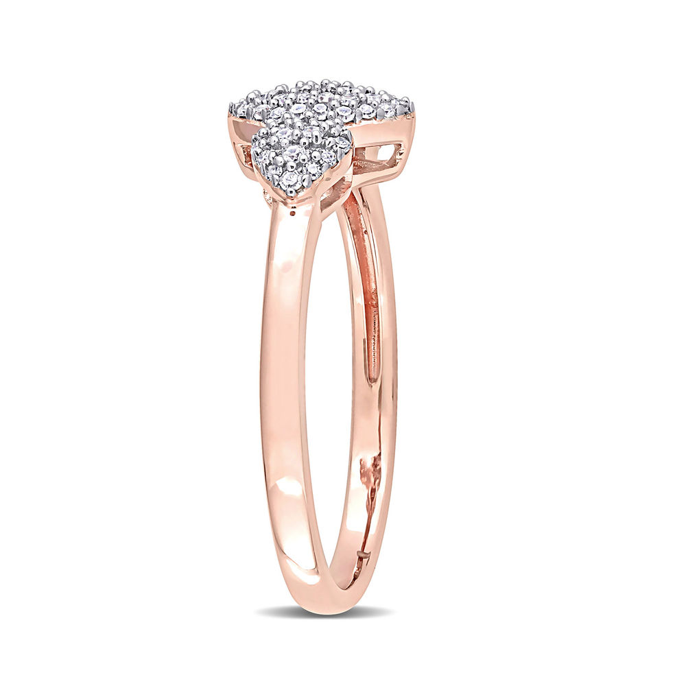 1/5 CT. T.W. Diamond Marquise Ring in Rose Gold Plated Sterling Silver - 1