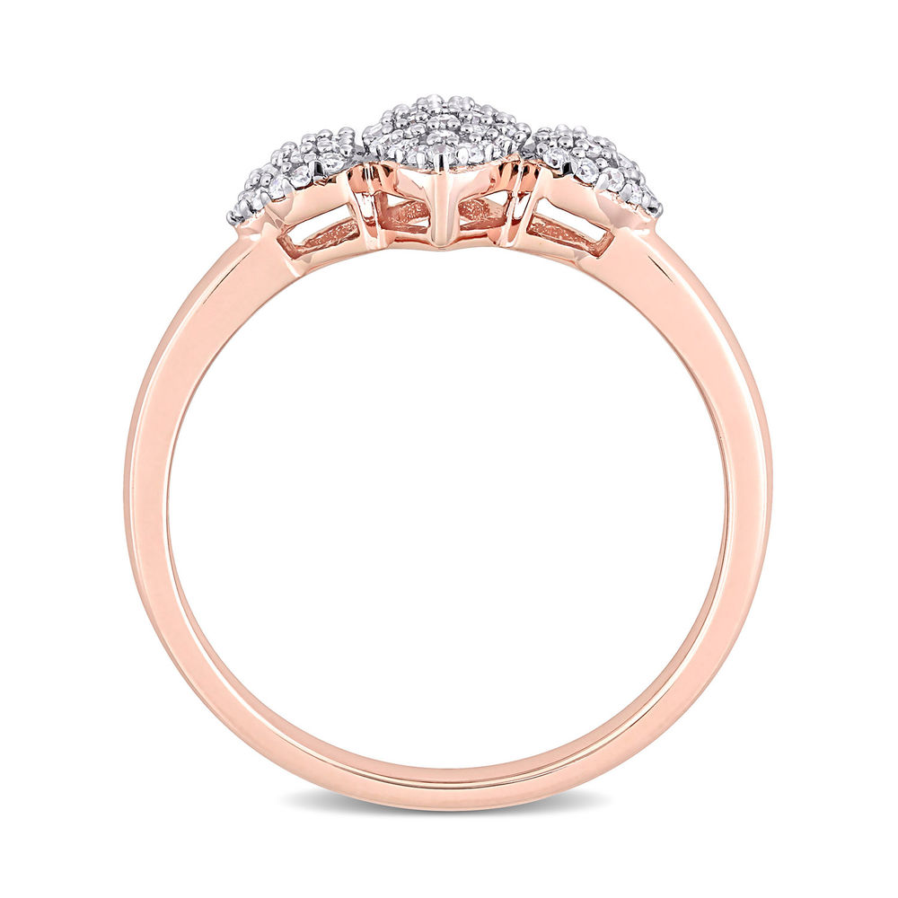 1/5 CT. T.W. Diamond Marquise Ring in Rose Gold Plated Sterling Silver - 2