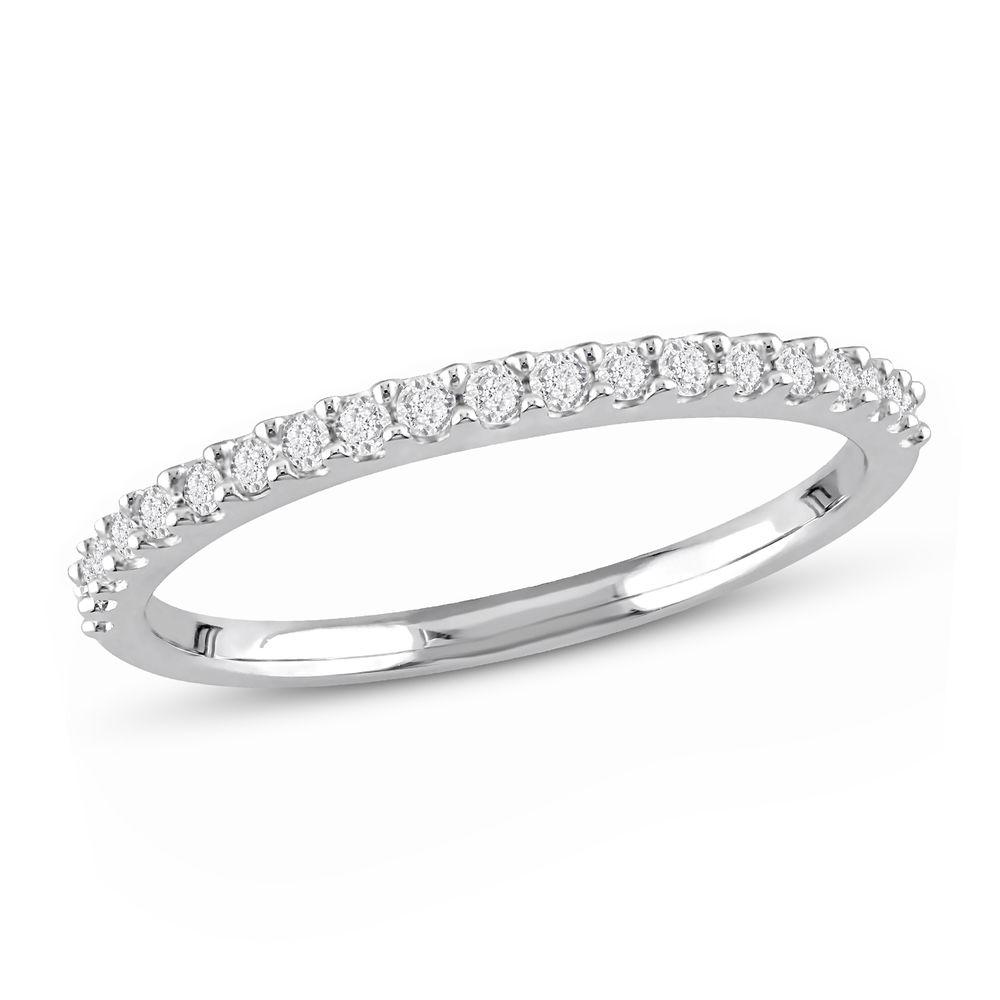 1/5 C.T T.W. Diamond Semi-Eternity Ring in 10K White Gold