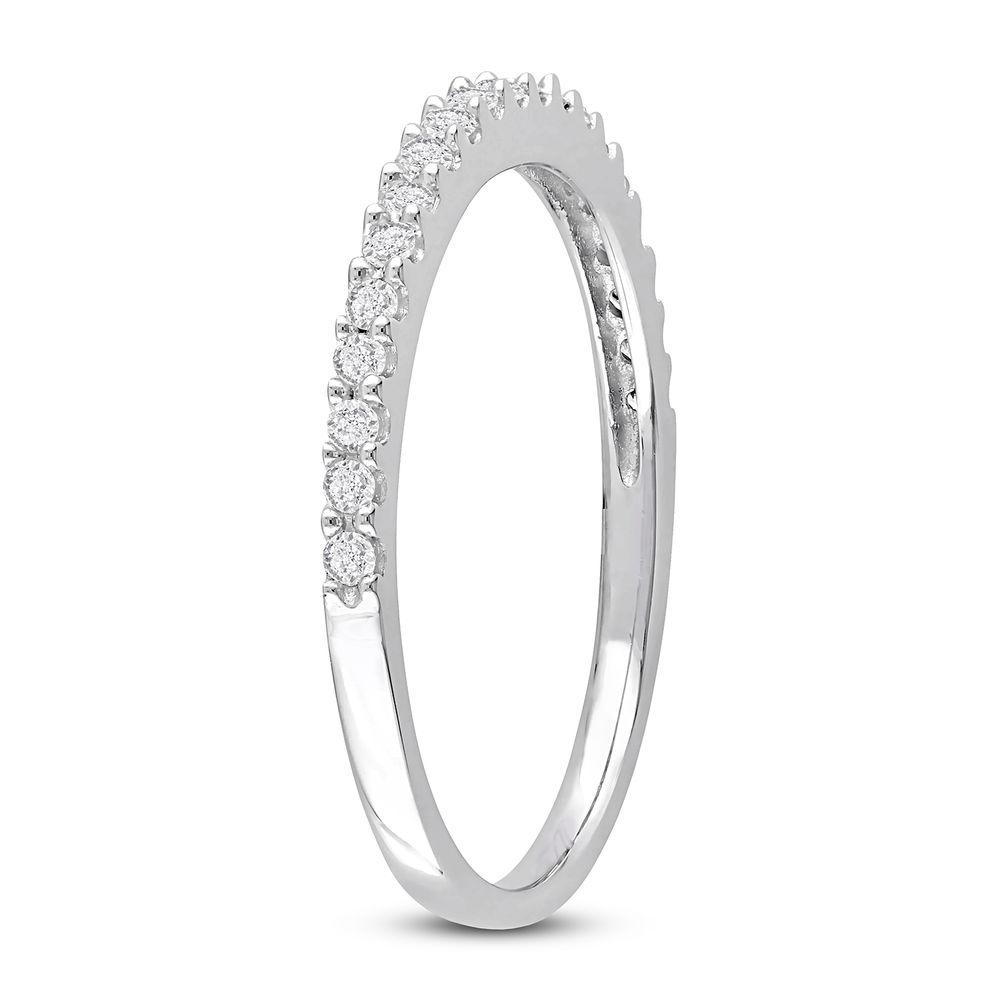 1/5 C.T T.W. Diamond Semi-Eternity Ring in 10K White Gold - 1