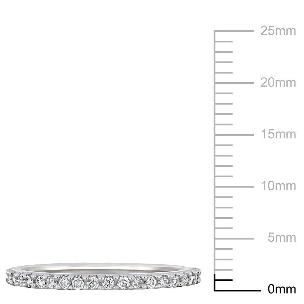 1/5 C.T T.W. Diamond Semi-Eternity Ring in 10K White Gold - 4