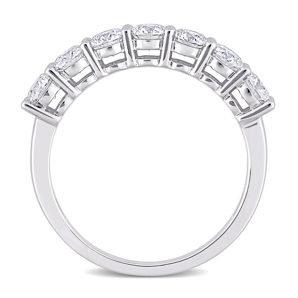 1 C.T T.G.W. Moissanite Semi-Eternity Ring in Sterling Silver - 2