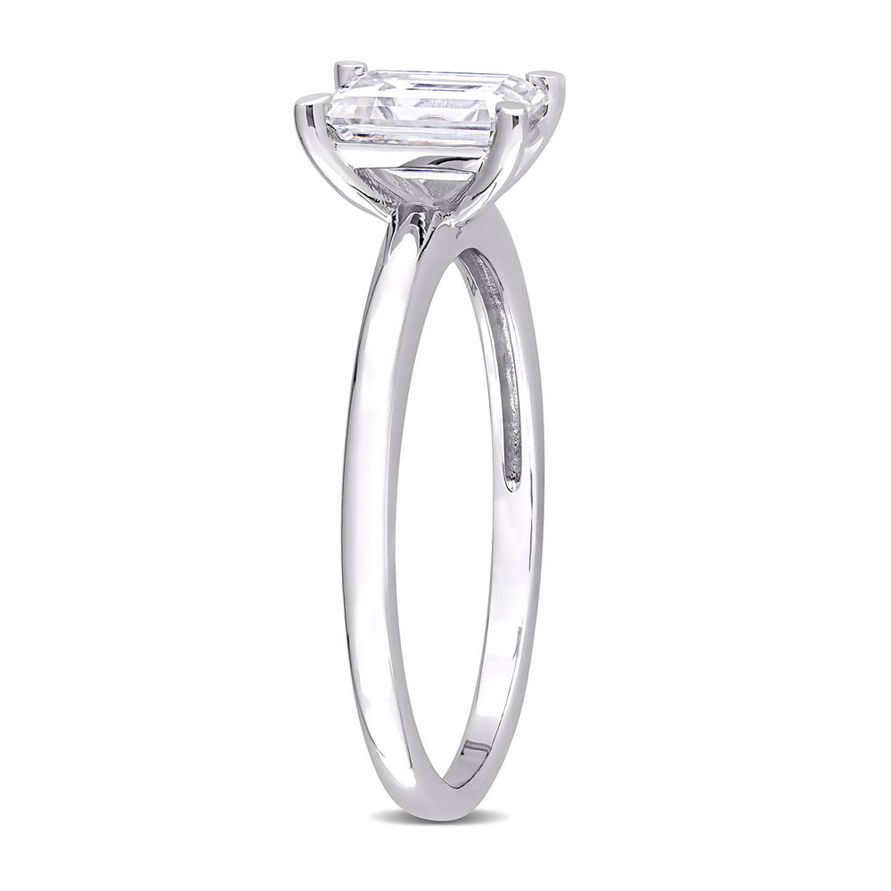 1 C.T T.G.W. Moissanite Octagon-cut Ring in Sterling Silver - 1