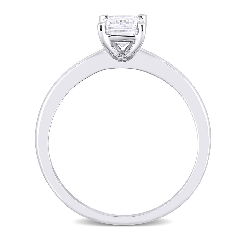 1 C.T T.G.W. Moissanite Octagon-cut Ring in Sterling Silver - 2