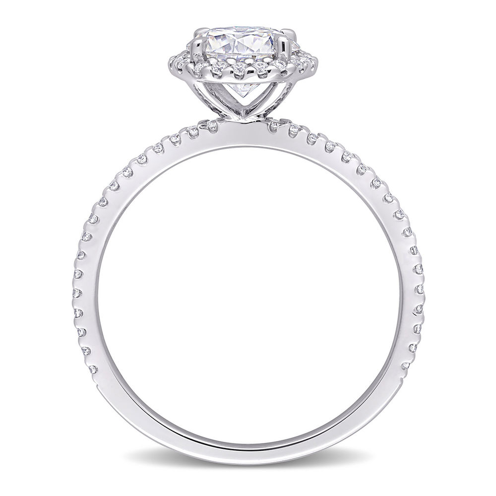 1 1/4 C.T T.G.W. Moissanite Round-cut Ring Sterling Silver - 2