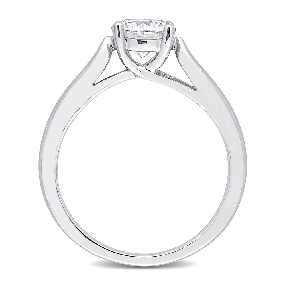 1 C.T T.G.W. Moissanite Solitaire Ring Sterling Silver - 2