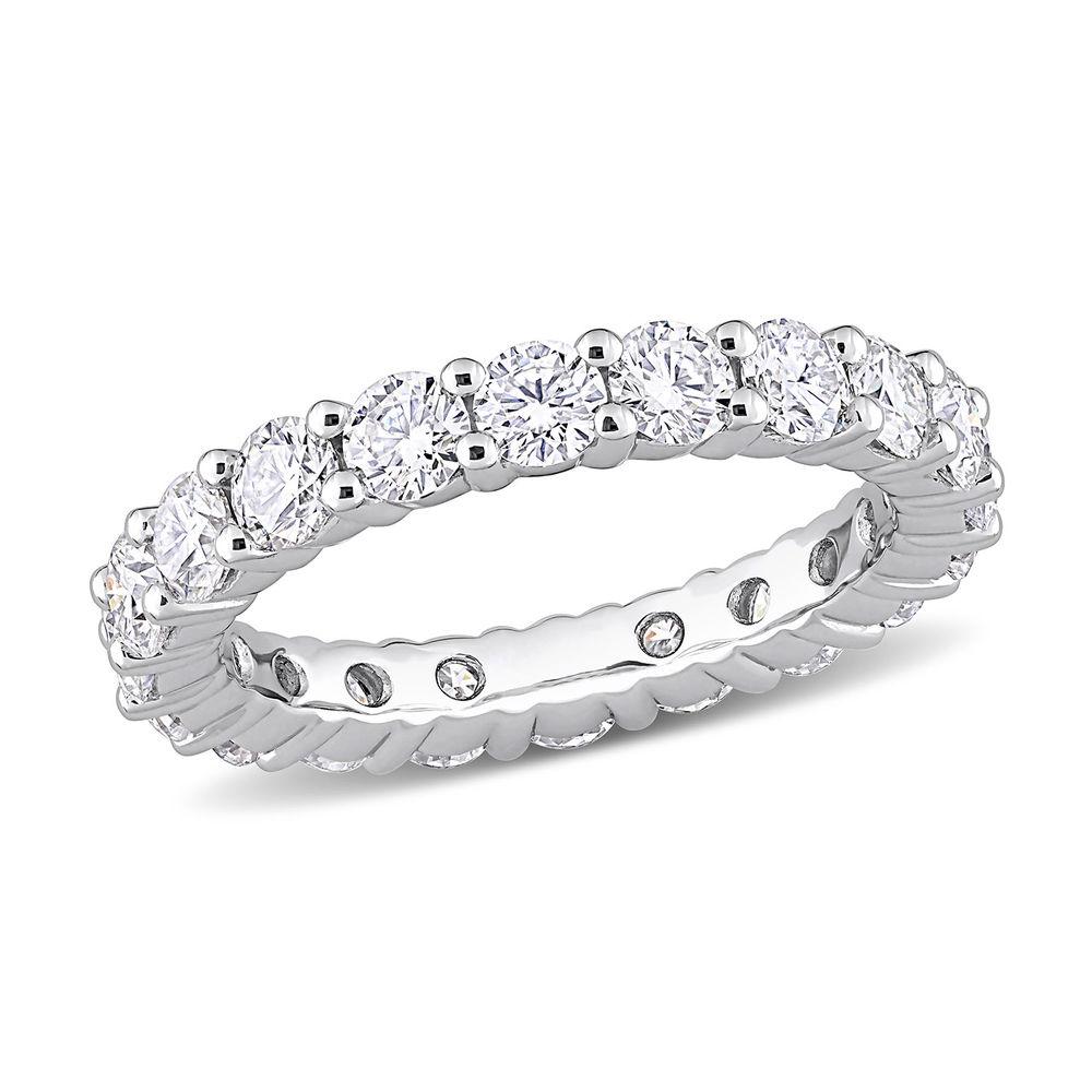 3 C.T T.G.W. Moissanite Eternity Ring in Sterling Silver