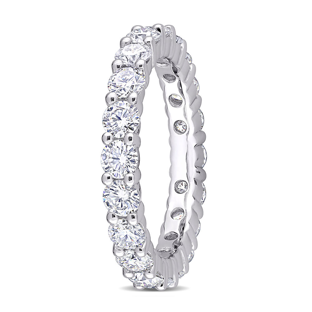 3 C.T T.G.W. Moissanite Eternity Ring in Sterling Silver - 1