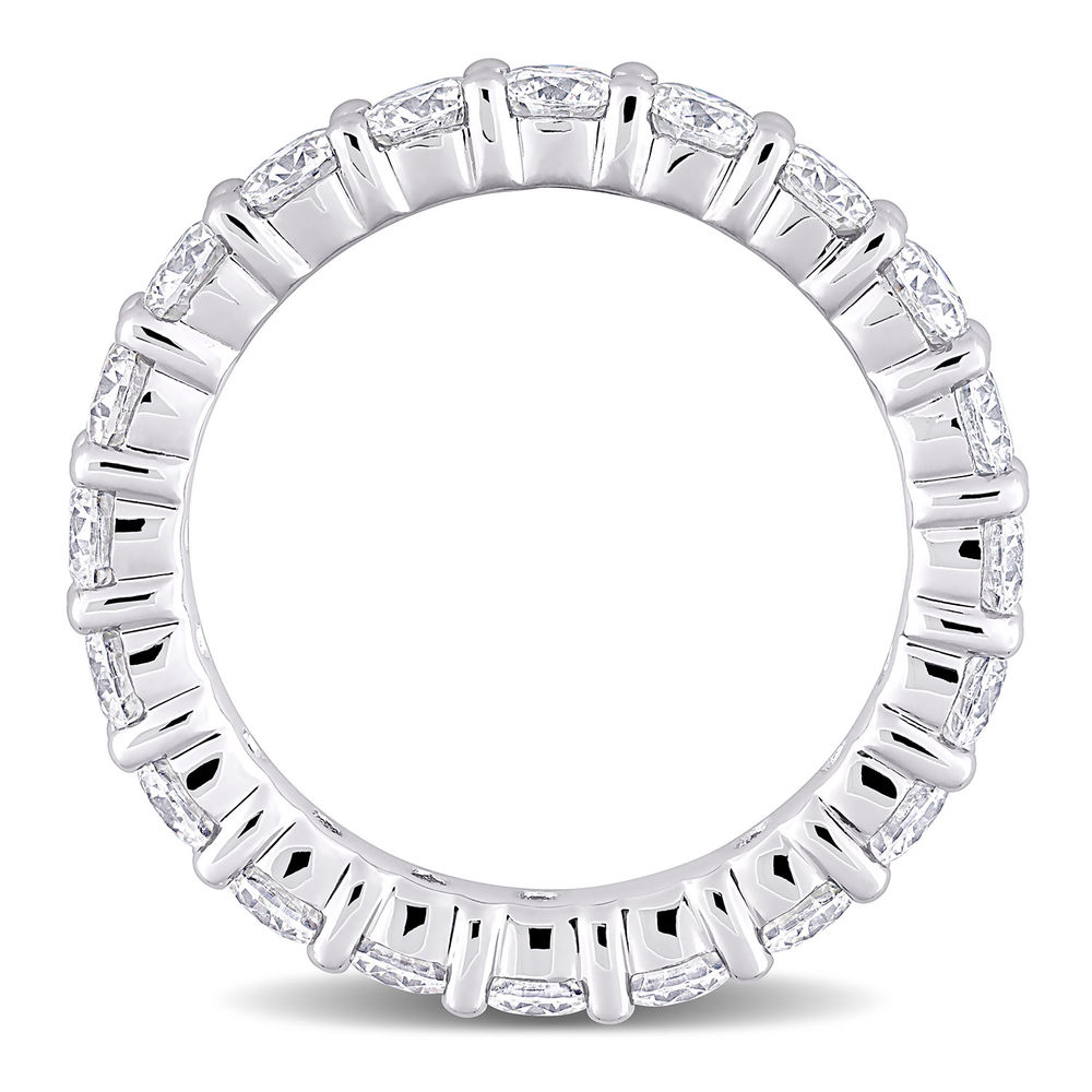 3 C.T T.G.W. Moissanite Eternity Ring in Sterling Silver - 2