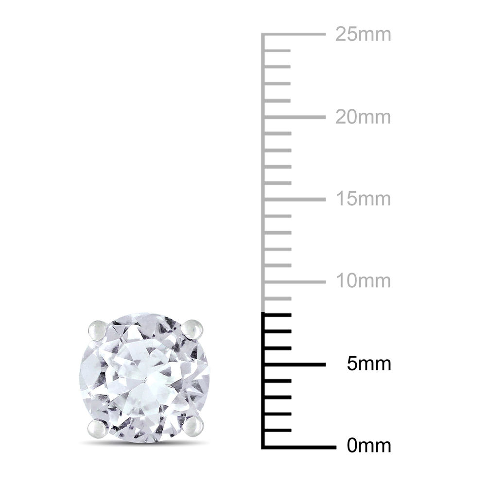 4 4/5 CT TGW Created White Sapphire Fashion Post Earrings in Sterling Silver - 3