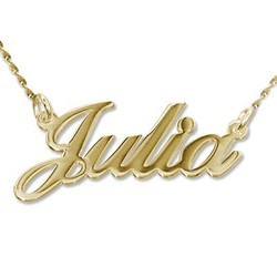 14k Gold Classic Name Necklace product photo