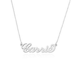 Sterling Silver Carrie Style Name Necklace product photo