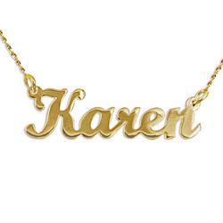14k Yellow Gold Script Style Name Necklace product photo