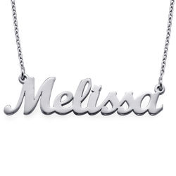 Silver Script Name Necklace product photo