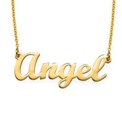 18k Gold Plated Script Name Necklace product photo